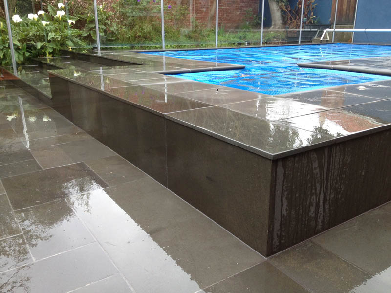 Pool landscaping geelong paving surrounds decks for Swimming pool surrounds design