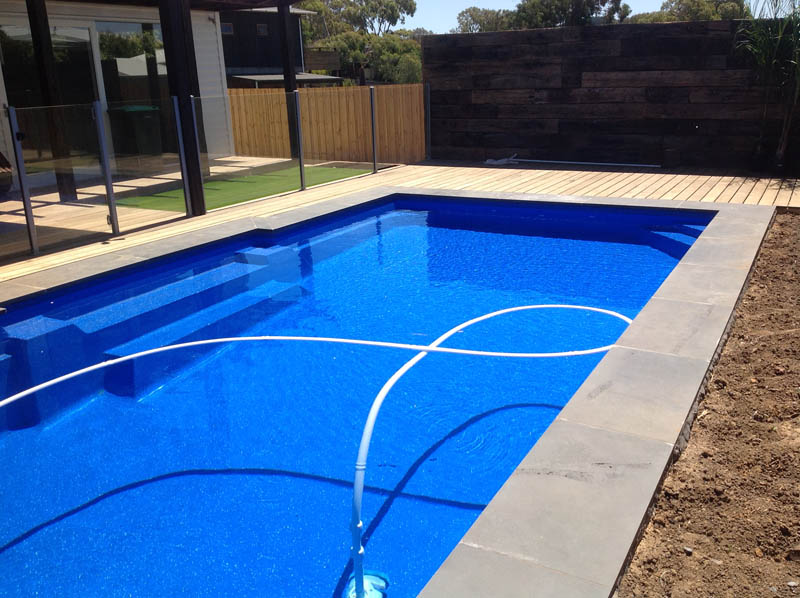 Pool landscaping geelong paving surrounds decks for Pool design geelong