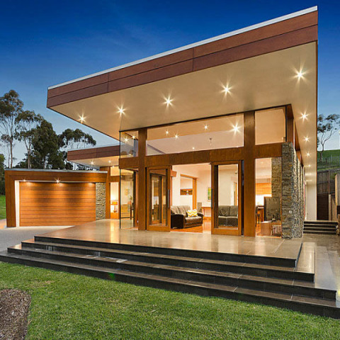 Bluestone paving and steps in Highton
