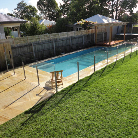 Pool landscaping geelong paving decking for Pool design basics
